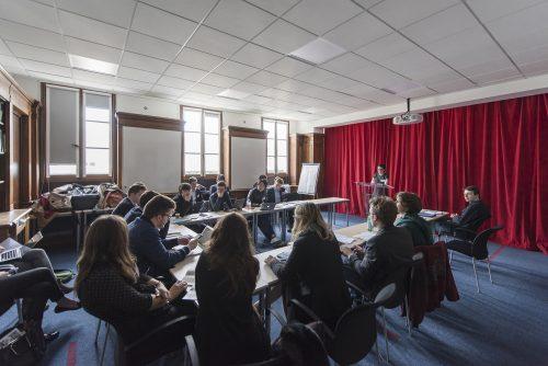 Journée de simulation sur les enjeux de la transition énergétique au sein du Grand Paris organisée par L'Ecole d'Affaires publiques de Sciences Po, l'École des Mines et le programme Forccast le jeudi 28 avril 2016.