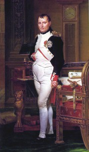 Portrait Napoleon Bonapartes von Jacques Louis David (1812)