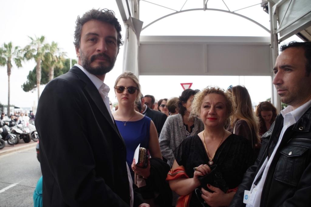 L'équipe du film, lors de la première