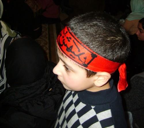 Jeune participant à l'Achoura, mosquée Inam, Moscou. A. Braux, 01/2009