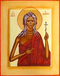 Icône de Sainte Marie l'Egyptienne