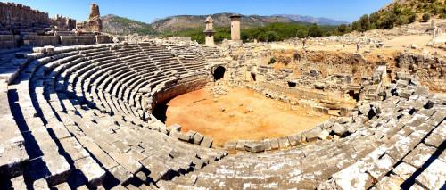 Théâtre antique de Xanthos, en Lycie (actuelle Turquie)