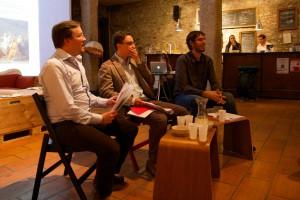 Konstantin Büchler, Jordi Pià et moi-même lors du banquet du 22 octobre.