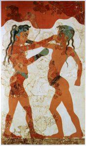 Fresque des jeunes boxeurs, Akrotiri