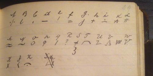 Unbekannte Geheimschrift im Notizbuch von Nikolaus Weinheimer