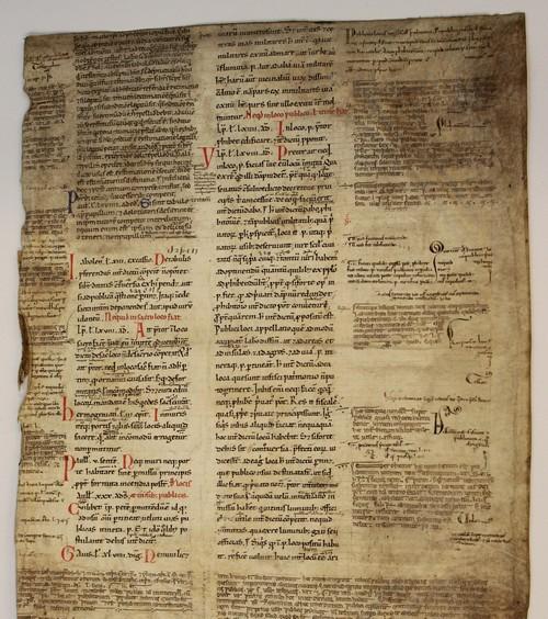 Erstes Baltt des Utrechter Handschriftenfragments