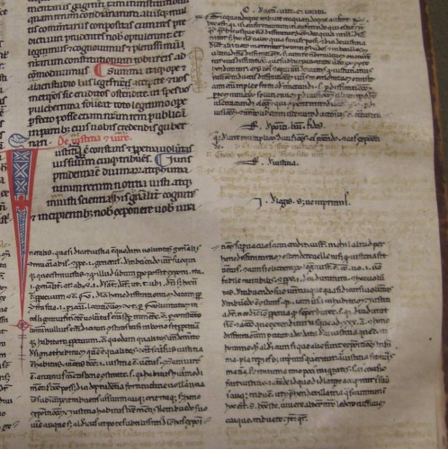 A detail of the same manuscript page