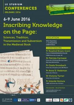 "Flyer ""Inscribing Knowledge"""