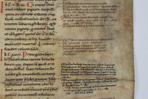 Detailaufnahme des Utrechter Fragments