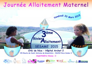 Journée Allaitement Maternel – 20 mars 2015 à NIce