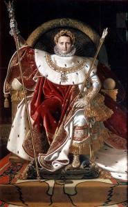 Objekt des Hasses? Napoleon auf dem Kaiserthron in einer Darstellung Jean Dominique Ingres' (1780-1867) (Bild: Jean Auguste Dominique Ingres [Public domain], via Wikimedia Commons).