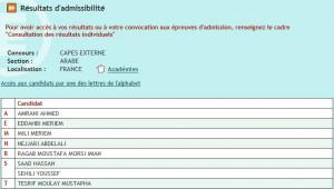 Admissibilité CAPES 2015