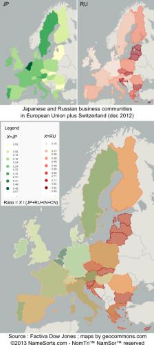 Japonais et russes dans les affaires en Europe (2013) L
