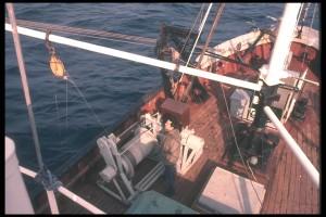 Le Job Ha Zelian dans le Golfe de Gascogne en 1973. Crédit Photo : Jacques Servain