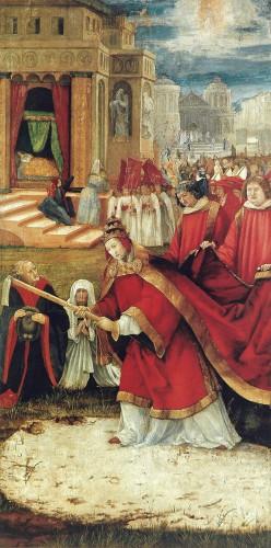 Matthias Grünewald, Maria-Schnee-Altar, rechter Seitenflügel mit dem Schneewunder, um 1517/1519