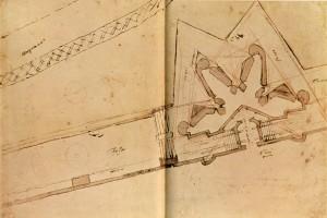 Michelangelo, Studie für die Bastion am Stadttor Prato di Ognissanti, 1529