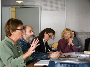 Sonia Combes (BDIC), Pascal Cordereix (BnF), Florence Descamps (EPHE), Hélène Bracco