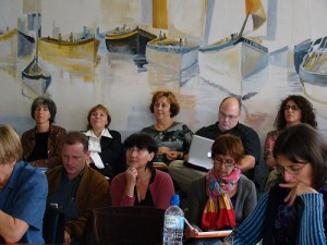 Laurent Dousset (CREDO), Louise Pichard-Bertaux (MAP) et Barbara Bonazzi (Ecole française d'extrême orient)