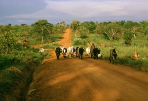 Dinka pastor on the road to Juba-Yei, Southern Sudan