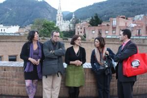 Sur la terrasse des archives nationales de Colombie