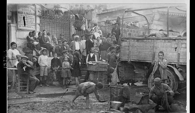 Réfugiés d'Asie-Mineure sur l'île de Syros en 1922