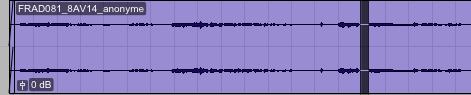 Matérialisation du silence d'anonymat sur le fichier audio