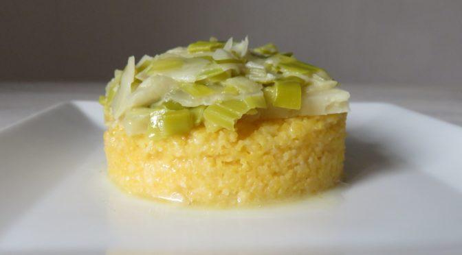La recette du mois : La polenta aux poireaux