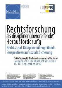 Plakat der Veranstaltung Rechtsforschung als disziplinenübergreifende Herausforderung