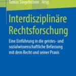 """Buchumschlag """"Interdisziplinäre Rechtsforschung"""""""