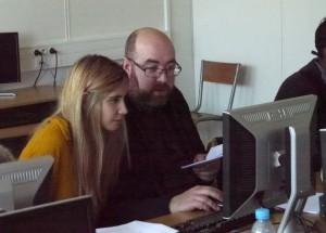 Séance de transcription collective (Paula Klein et Chris Clarke)