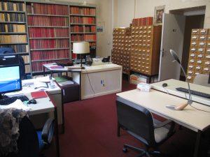 La PG et les tiroirs de fichiers constitués depuis des décennies
