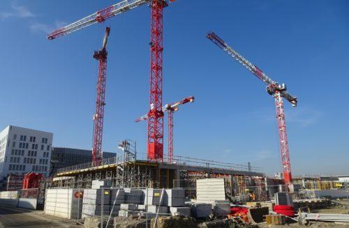Photo du chantier du Grand équipement documentaire (H. Wijsman)