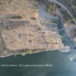 Cliché aérien du site/Fotografía aérea del yacimiento tomada por G. García Gómez desde un parapente con motor, 2012.