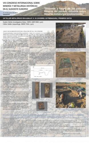 Poster presentado en junio de 2014 en el VIII Congreso de Minería y Metalurgia, Granada. © Gilotte, Galtier, 2014.