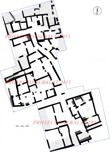 Plan schématique des structures. État 2015 © Projet Albalat.