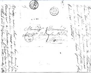 adresse sur la lettre (6 septembre 1844)