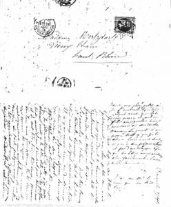 Lettre du 25 septembre 1870 sans enveloppe