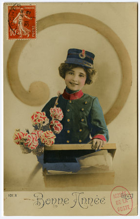 Bonne Année - carte postale illustrée début XXe siècle © Photo L'Adresse Musée de La Poste, Paris / La Poste