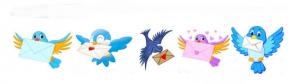 Les oiseaux messagers sur la toile
