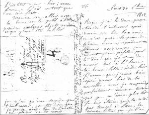 Alphonsine Delaroche-Duméril à son époux, 30 septembre 1812