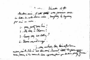 Jules Desnoyers à son gendre et sa fille - carte du 13 novembre 1870