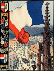 Hansi, Le Paradis tricolore : Thann, 1918 (source: New York Public Library)