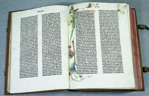 Inc 1924 2° Doppelseite Gutenberg-Bibel