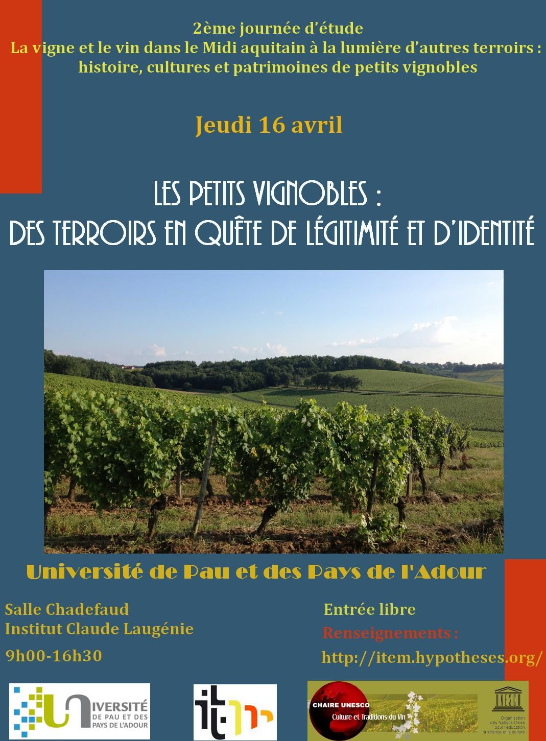 2eme journée petits vignobles - Affiche