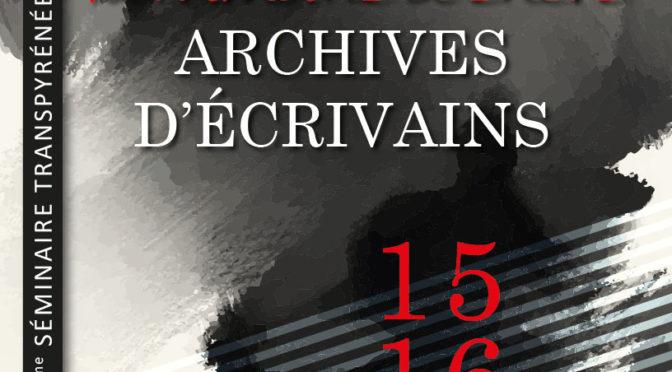 Patrimoine d'encre – Archives d'écrivains