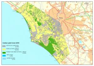 Fig. 1 - Uso del suolo del territorio del Delta del Tevere