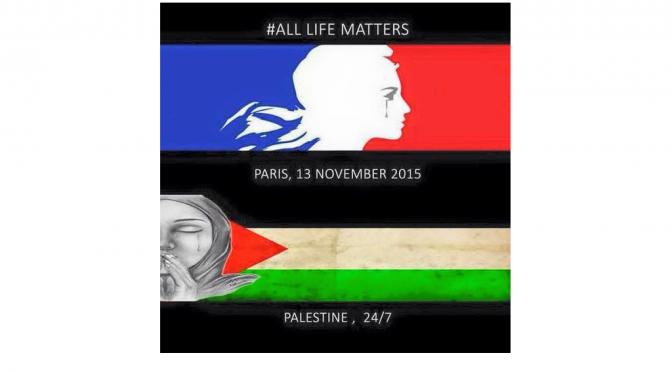 #ParisAttacks et #AllLivesMatter  : le retournement d'un slogan dans son voyage international