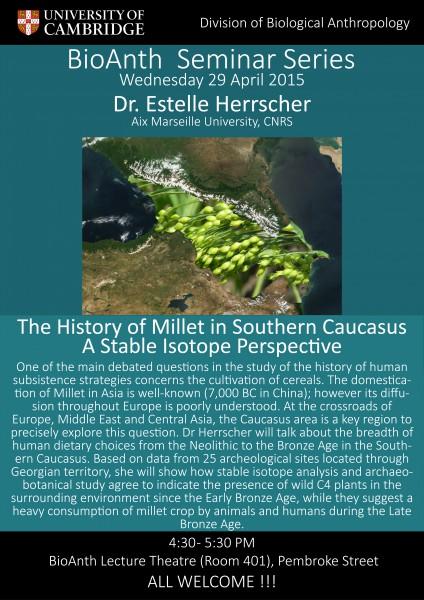 Figure 2 : Résumé de la présentation d'Estelle Herrscher