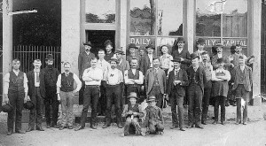 TDC Newspaper Staff 1880-90s © CC BY-SA Flickr-User Marion Dross