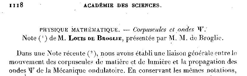 Photon CRAS 1927 Louis de broglie